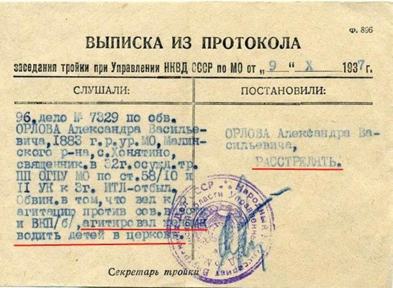 приговор сталинской тройки