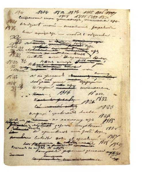 Рабочие тетради Пушкина